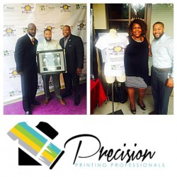 The Precision Printing Pros donated 20 Shirts for the silent auction at the Delta Mu Mu Chapter of Omega Psi Phi's Inaugural P3
